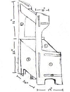 cardboard kitchen sketch