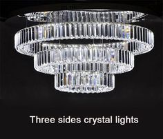 85.00$  Buy here - http://ali64p.worldwells.pw/go.php?t=32497298822 - New study dining room living room LED lamp ring three sides Villa Hotel crystal diamond ceiling lights lustres luminaria lustres 85.00$