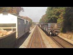 CSX RF&P Sub Fredericksburg to Ashland Southbound Rear View - YouTube
