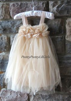 Champagne Flower Girl Dress Ivory Flower GIrl Dress- Flower GIrl Dresses- lace Flower Girl- Girls Dress- Country Wedding- Rustic Wedding- by PrettyPrettyLilGirls Flower Girl Dresses Country, Rustic Flower Girls, Toddler Flower Girl Dresses, Wedding Flower Girl Dresses, Toddler Dress, Girls Dresses, Champagne Lace Dresses, Wedding Champagne, Rustic Dresses