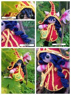 Lulu League of Legends Amigurumi Doll Fairy Pixie Elf Crochet Champion LoL…