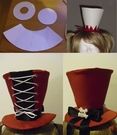 Harley Quinn top hat