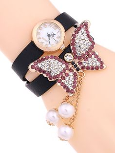 Shop Sammy Dress to have a discount up to with Sammy Dress Discount Codes Watch Display, Layered Jewelry, Butterfly Jewelry, Stylish Watches, Sammy Dress, Quartz Watch, Bracelet Watch, Layers, Casual