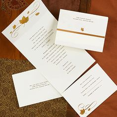Casual Autumn Wedding Invitation Or Fall Party Invitations Celebrate A Momentous Milestone With This Elegant Bronze Maple Leaf Seal N Send