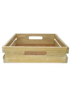 Wooden Small Tray with Handles - Display Decoration