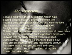 """And Tomorrow"", a poem my Tupac Amaru Shakur."
