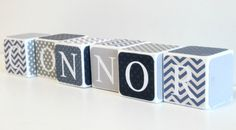 Custom Baby Name Baby Blocks Nursery Baby by SweetSageStudio