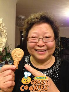 Retirement Party Ideas - Happy Customer - Custom Cookies - Make your mom into a cookie - Edible Favors