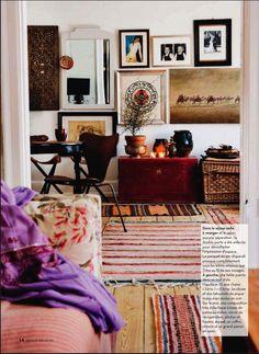 Trine Harbo's appartment: Eclectic in Copenhagen; maison magazine, feb 2011.