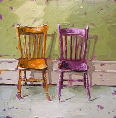 Roisin O'Farrell, artist from Ireland Oil Painting Abstract, Love Painting, Painted Chairs, Painted Furniture, Love Chair, Irish Art, Interior Sketch, Diy Canvas Art, Still Life Art