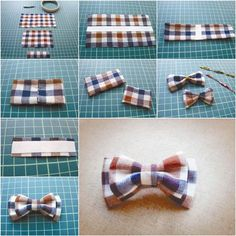 How to DIY Pretty Plaid Bow Hair Clip | iCreativeIdeas.com Like Us on Facebook ==> https://www.facebook.com/icreativeideas