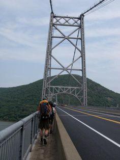 Crossing the Hudson. Appalachian Trail Thru-hikers
