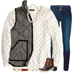 oh so preppy by smbprep on Polyvore featuring J.Crew, Jacob Cohёn, Sperry, STELLA McCARTNEY, Kate Spade, Majorica and Too Faced Cosmetics