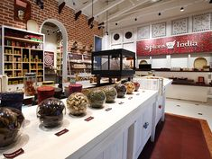 » Spices India by Four Dimensions Retail Design, Kochi – India Shop Interior Design, Retail Design, Store Design, Indian Interiors, Shop Interiors, Kochi, Visual Merchandising, Healthy Snacks For Diabetics, Healthy Recipes