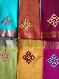 Kasuti Embroidery, Hand Embroidery Dress, Hand Embroidery Videos, Embroidery Saree, Indian Embroidery, Hand Embroidery Stitches, Hand Embroidery Designs, Embroidery Techniques, Embroidery Patterns