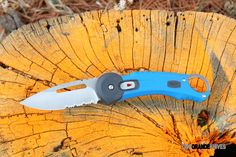 Buck 0750BLX Redpoint Knife, Blue. Safe, convenient and reliable. This knife offers one-hand SafeSpin™ deployment for easy opening and closing without having to touch the blade. http://www.osograndeknives.com/catalog/hunting-and-outdoor-folders/buck-0750blx-redpoint-knife-blue-5481.html