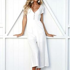 ABASSKY Women Summer Casual Elegants Leopard O-Neck Short Sleeve Wide Leg Pants Strappy Jumpsuit