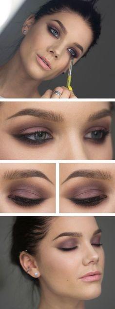 Love this purple smoky eye makeup. #eyemakeuptutorial