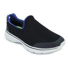 Skechers Go Walk 4 Incredible 54152 Zapatos para hombre hechos con materiales textiles. Disfruta de una buena transpiración y de una gran comodidad con su plantilla interna acolchada. Calce rápido y fácil. Estos zapatos son ligeros y son flexibles. Perfectos para usarlos durante horas.