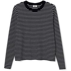 Stripe Long Sleeve T-Shirt ❤ liked on Polyvore featuring tops fdef73cff76a