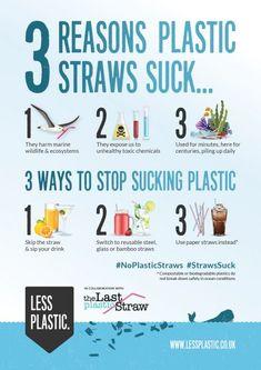 3 reasons plastic straws suck - Posters & Postcards
