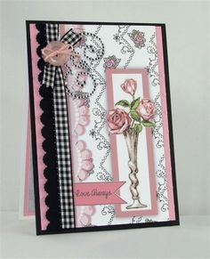 Kendra's Card Company: Everything's Coming Up Roses! Artist Card, Owl Punch, Coming Up Roses, Atc Cards, Card Companies, Frou Frou, Crafters Companion, Create And Craft, Be My Valentine
