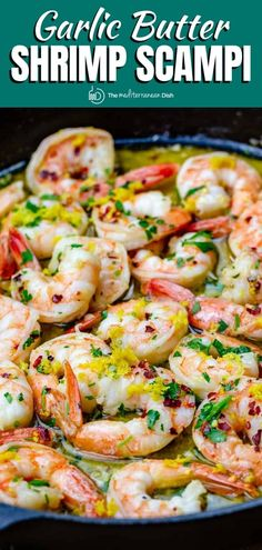 This easy shrimp scampi recipe is way better than what you'll have at the restaurant! A few tips make all the difference. Ready in 20 mins. Shrimp Recipes Easy, Seafood Recipes, Meal Recipes, Easy Shrimp Scampi, Garlic Butter Shrimp, Scampi Recipe, Herb Roasted Chicken, Dinner Entrees, Healthy Comfort Food