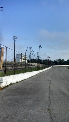 Paved race track at Ellisville Speedway, Lake City, Fl . Looking for a Lake City FL Farm? Visit http://www.NorthFlHomesandLand.com . Bruce Dicks, Realtor, Saucer Realty and Capital.