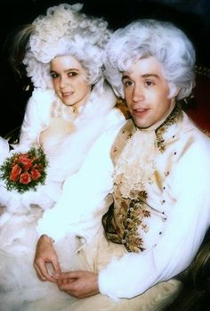 Tom Hulce and Elizabeth Berridge as Mozart and Constanze in 'Amadeus'