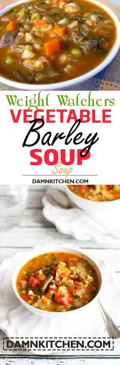 weight watchers recipes with points SLOW COOKER VEGETABLE BARLEY SOUP RECIPE
