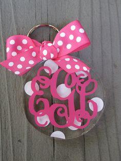 Personalized acrylic key chains. $8.00, via Etsy.