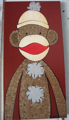 sock monkey paintings - Google Search