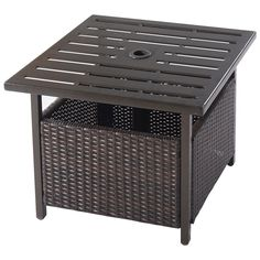 Living Room Office Snack Table for Outdoor Patio PHI VILLA Folding Metal Square Small Side End Table White Sofa