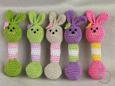 Bunny rattle Crochet baby rattle Rabbit rattle for by vbhandmade
