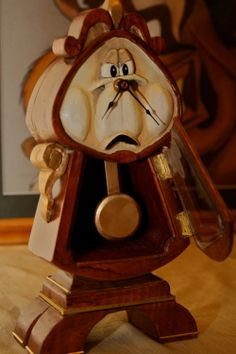 Beauty and the Beast Cogsworth Clock by CuriousCogs on Etsy, $80.00