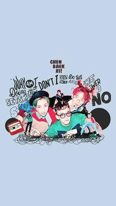 EXO Wallpaper #EXO #ChenBaekXi #Chen #Xiumin #Baekhyun #Subunit