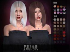 Sims 4 Hairs ~ The Sims Resource: Polly Hair by LeahLillith The Sims 4 Pc, Sims Four, Sims 4 Tsr, Sims Cc, Ikea Socker, Sims 4 Toddler Clothes, Sims 4 Traits, Sims 4 Black Hair, Pelo Sims