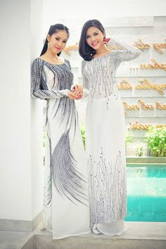 Beautiful white ao dai
