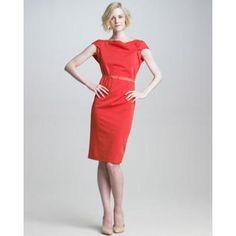 Elie Tahari Adella Fold-Sleeve Dress
