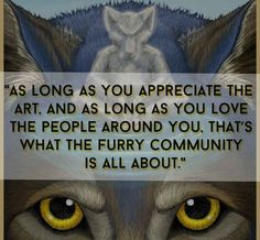 Wow! This is great. More positive stuff like this, please! Furries, furry community,  art