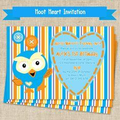 Hoot Boys Birthday Party Invitation  DIY by PrintAndPartyShop, $11.95