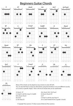 16 Beginners Guitar Chords - Learn Guitar For Free Guitar Chords And Lyrics, Music Theory Guitar, Guitar Chords Beginner, Easy Guitar Songs, Guitar Chords For Songs, Guitar For Beginners, Music Guitar, Playing Guitar, Learning Guitar