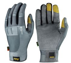 Extremely thin and comfortable Precision Skin Gloves with smooth reinforcements where it counts. Features outstanding fingertip feel and smartphone fingertip side for added convenience. EN 388. - Snickers Workwear Artnr. 9571