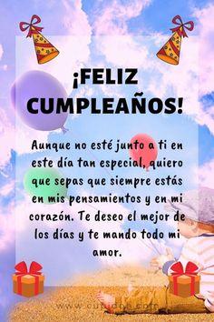 Happy Birthday Wishes Spanish, Happy Birthday Greetings Friends, Happy Birthday Ecard, Happy Birthday Video, Happy Birthday Wishes Cards, Birthday Blessings, Happy Birthday Images, Boyfriend Birthday Quotes, Ex Amor