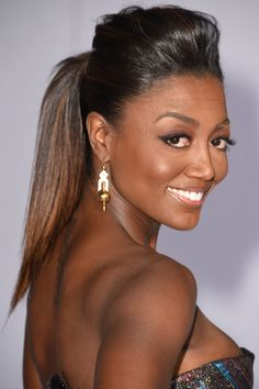 How to get Patina Miller's sleek, heigh-lifted ponytail. Plus 10 more ponytail ideas to try now: Mohawk Ponytail, Cute Ponytail Hairstyles, Bump Hairstyles, Cute Ponytails, African Hairstyles, Black Women Hairstyles, Weave Hairstyles, Updo, Hairdos