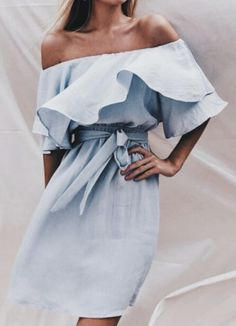 Stylish off shoulder outfit which can make the head turn when you wear it.