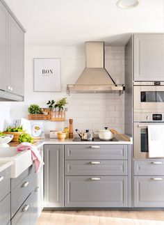 A perfect small kitchen of only - # # of <-> Ikea Kitchen, Kitchen Cupboards, Kitchen Decor, Grey Kitchen Designs, Interior Design Kitchen, Küchen Design, House Design, Made To Measure Furniture, Sweet Home