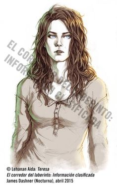 This artist illustreted on of the Maze Runner books. I just love her style of drawing!  Teresa - El Corredor del Laberinto: IC by Lehanan