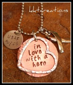 In love with a hero  Military Wife by twoturtledovesshop on Etsy, $34.00