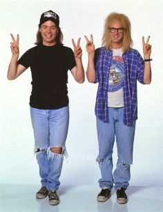 These particular Halloween costume options are just about all you need to accomplish the ultimate last-minute fancy dress costume. Party on Wayne. Party on Garth. Costume Halloween, Couples Halloween, 90s Costume, Diy Costumes, Halloween Diy, Costume Ideas, Party Costumes, Halloween 2020, 90s Themed Costumes
